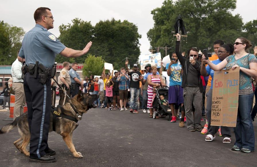 Protestors-confront-police