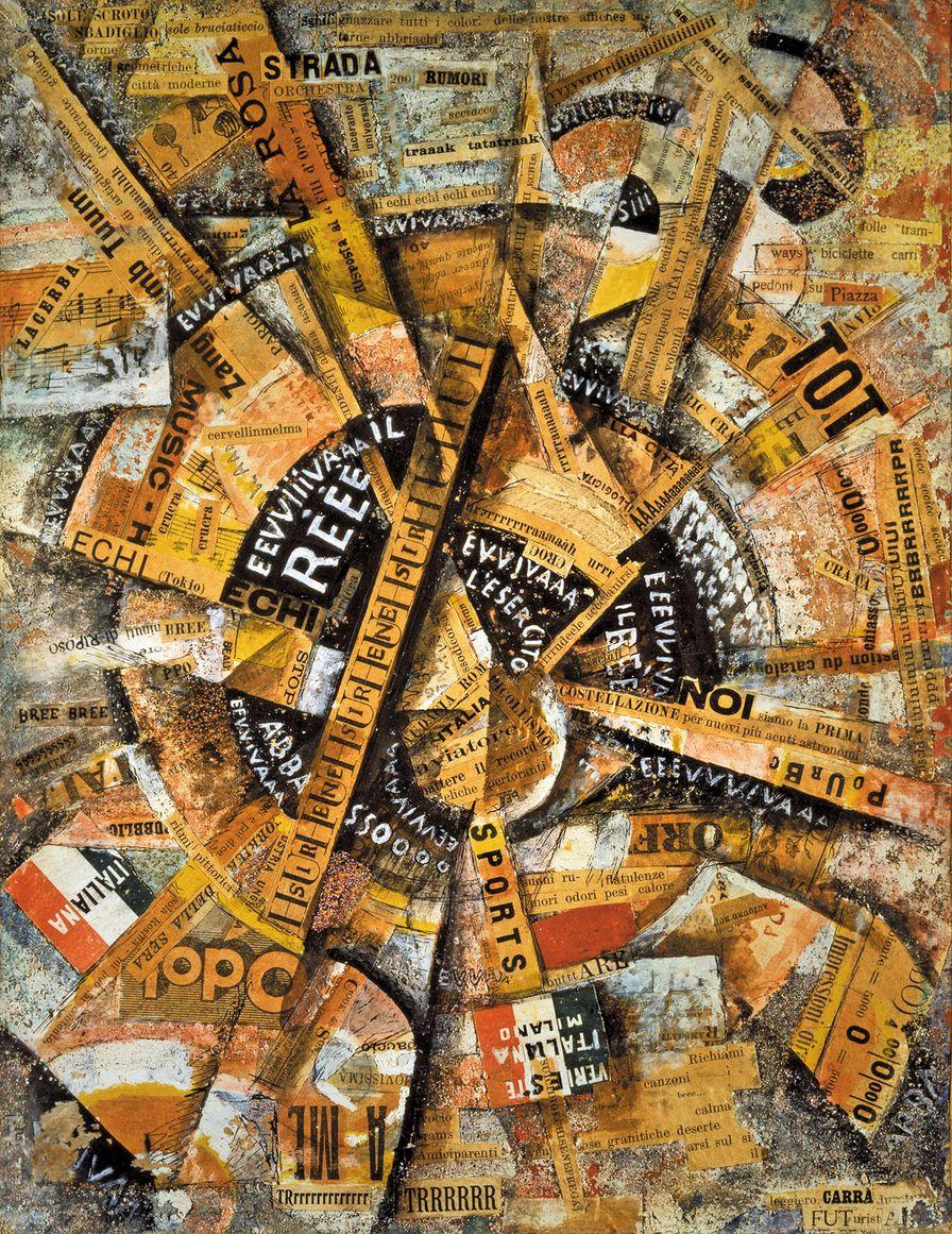 Interventionist-Demonstration-1914-by-Carlo-Carrà