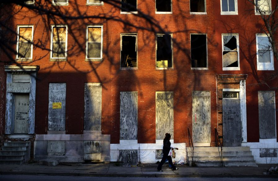 Row house in Baltimore