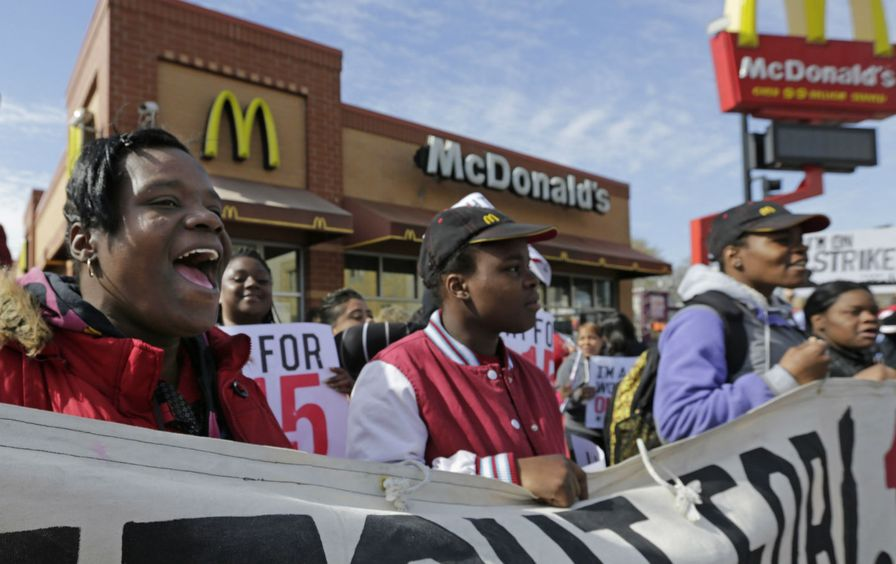 McDonald's protesters fight for 15