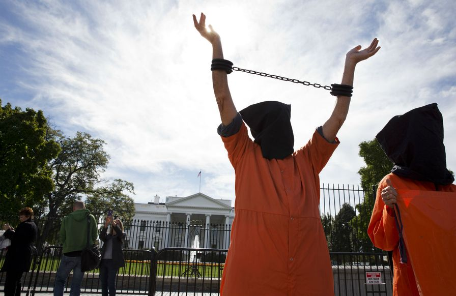 Guantanamo-protest-at-the-White-House