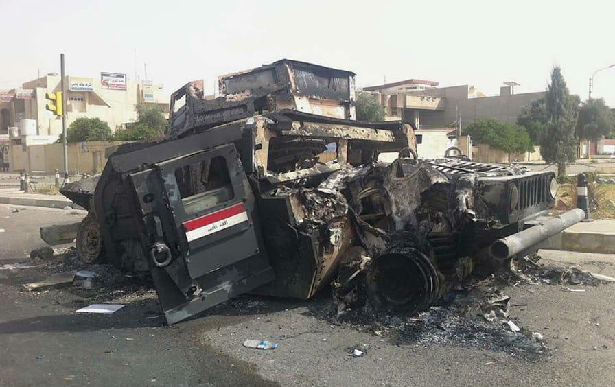Iraqi army vehicle
