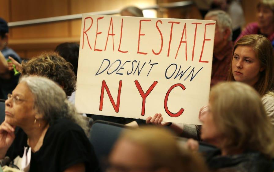 NYC rent regulation protest