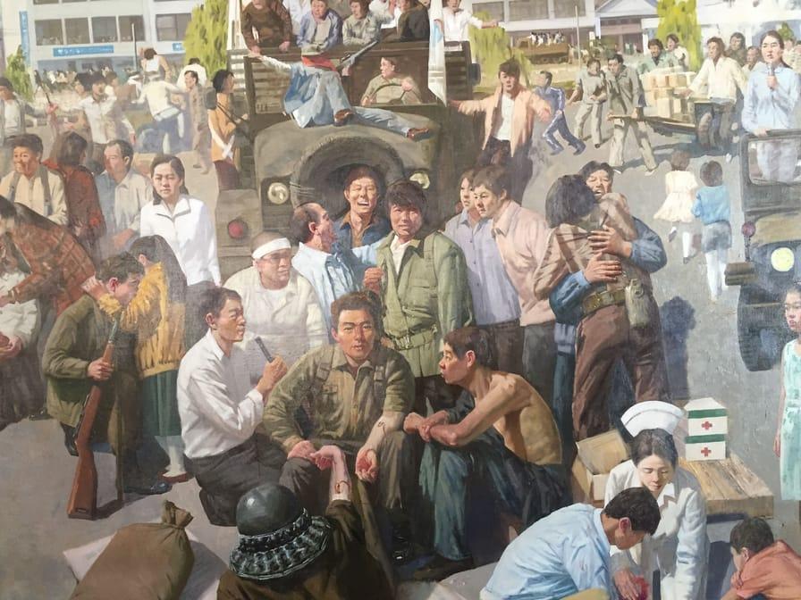 A-mural-of-the-Kwangju-Commune-of-1980
