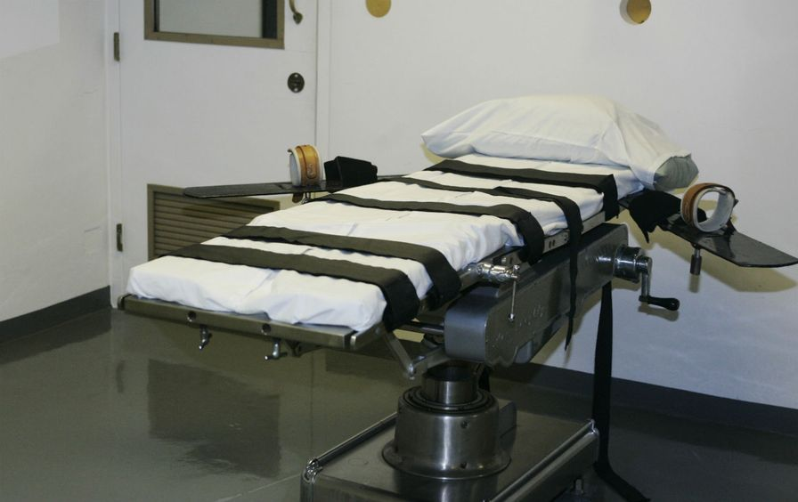 The Oklahoma State Penitentiary execution chamber