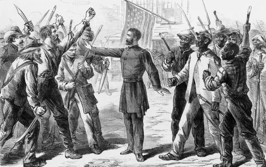 An agent of the Freedmen's Bureau during Reconstruction