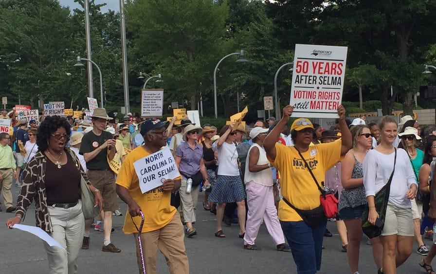 North Carolina Voting Rights Protest