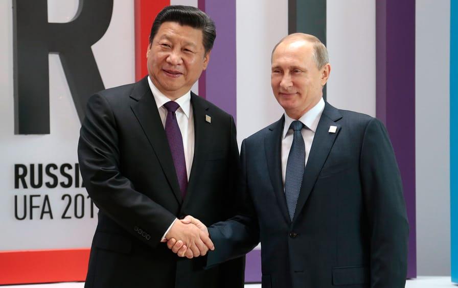 Presidents Putin and Jinping