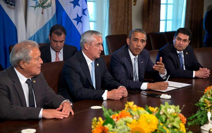 Obama and Sanchez Ceren