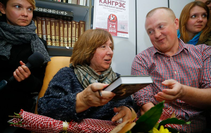 2015 Nobel Prize in Literature winner Svetlana Alexievich.