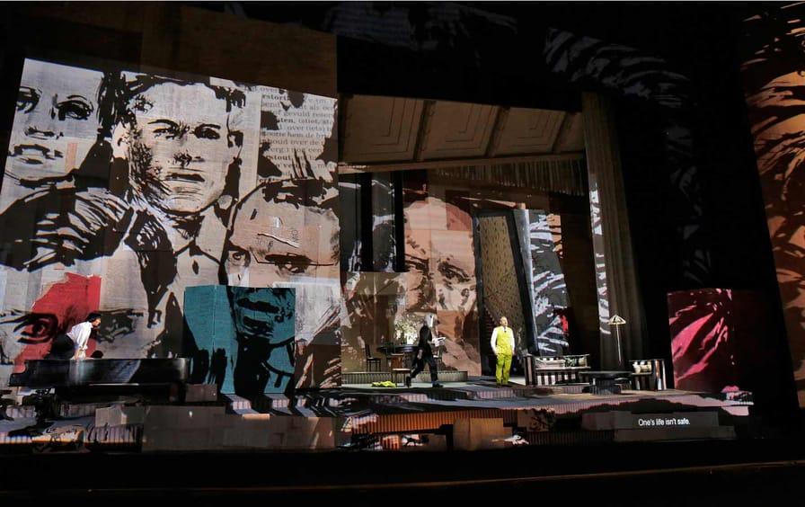 A scene from the New York Metropolitan Opera's production of Alban Berg's 'Lulu'.