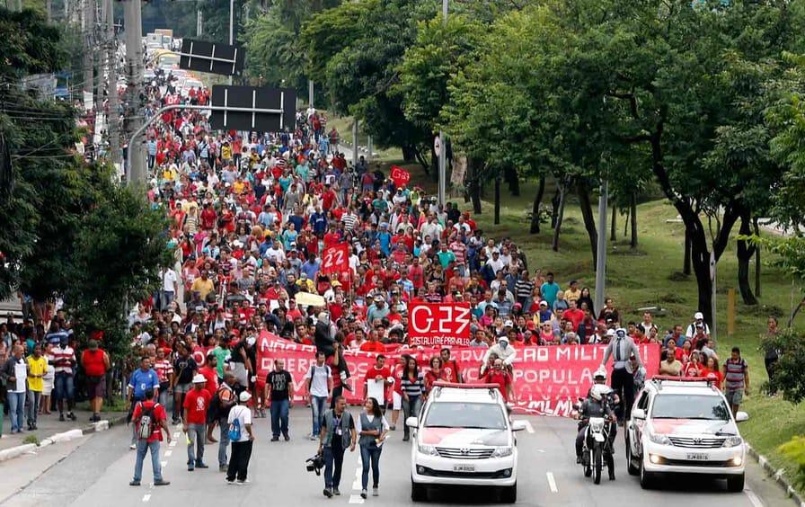 Brazil MTST march