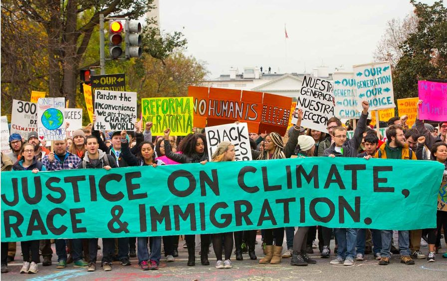 Group Rallying for Justice on Race, Climate and Immigration Issues