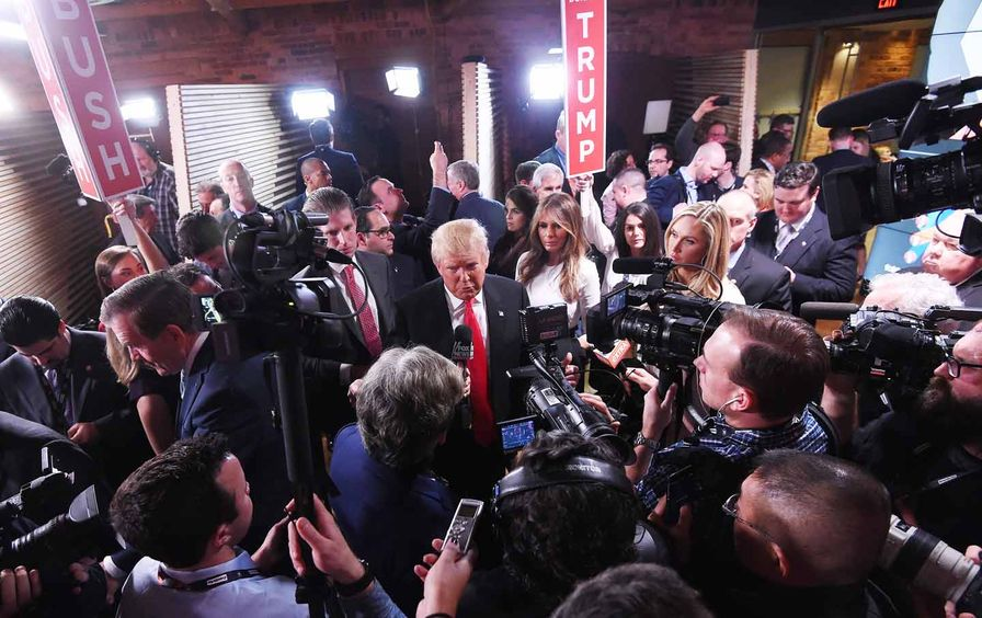 Donald Trump in the Spin Room