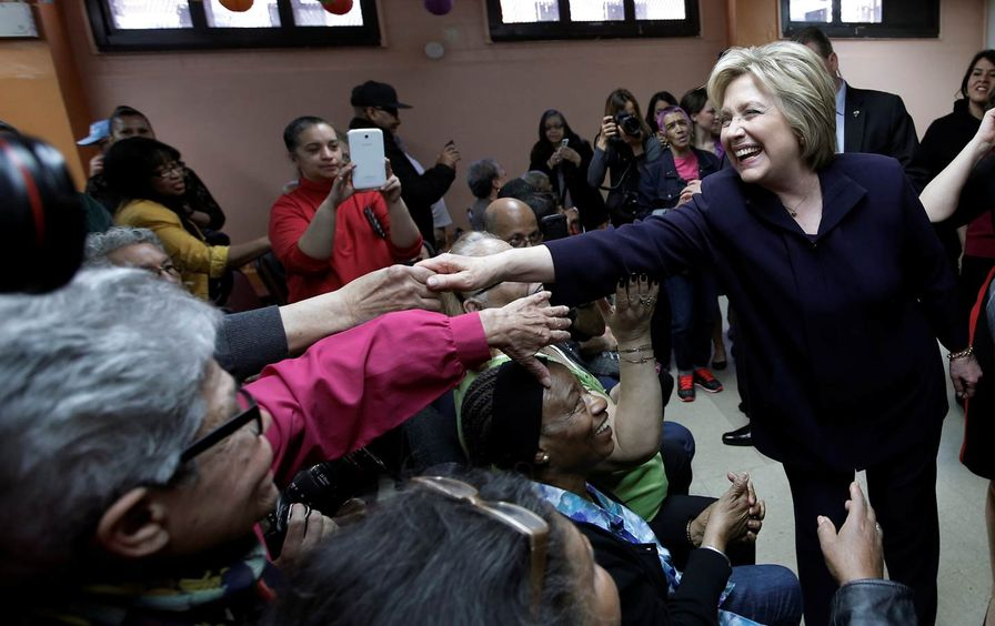 Hillary Clinton NYC campaign visit