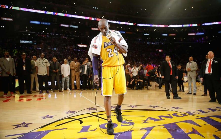 Kobe Bryant After Last Game
