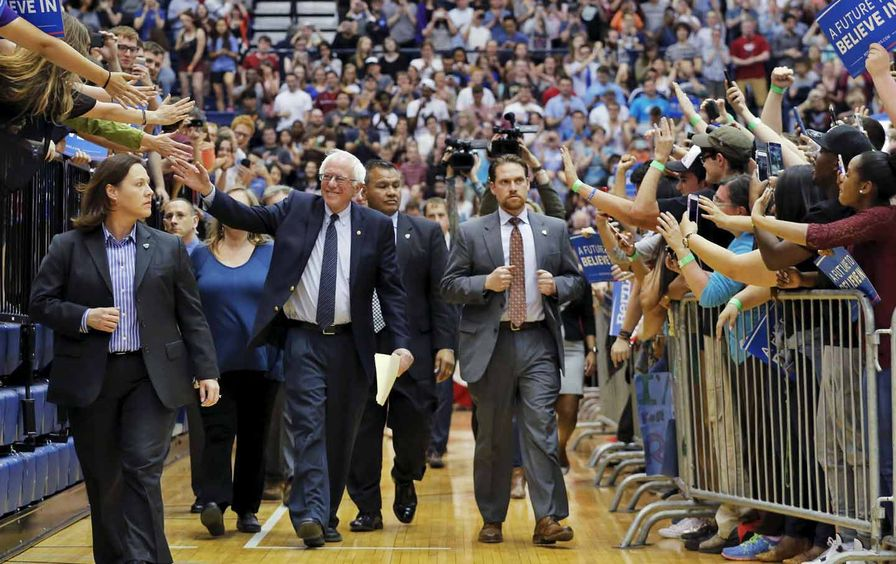 Sanders campaigning at Penn State