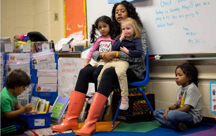 Pre-K Teacher and Students