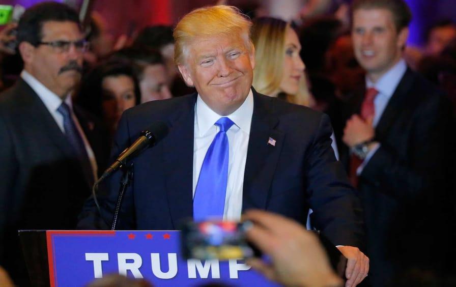 Trump during primaries