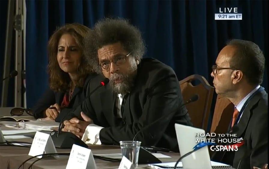 Cornel West platform hearings