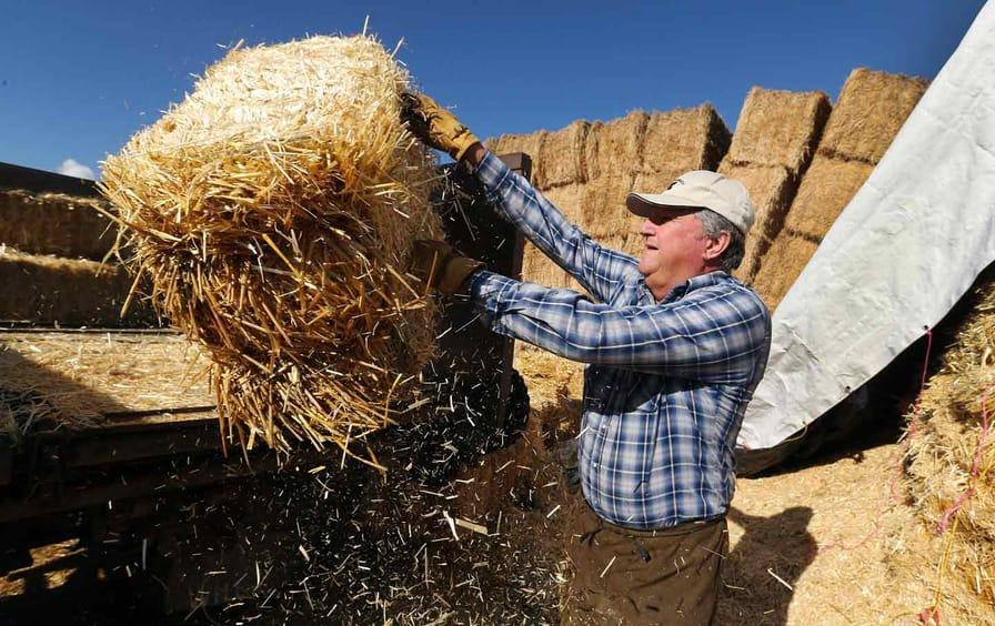 Utah Farmer Loads Hay