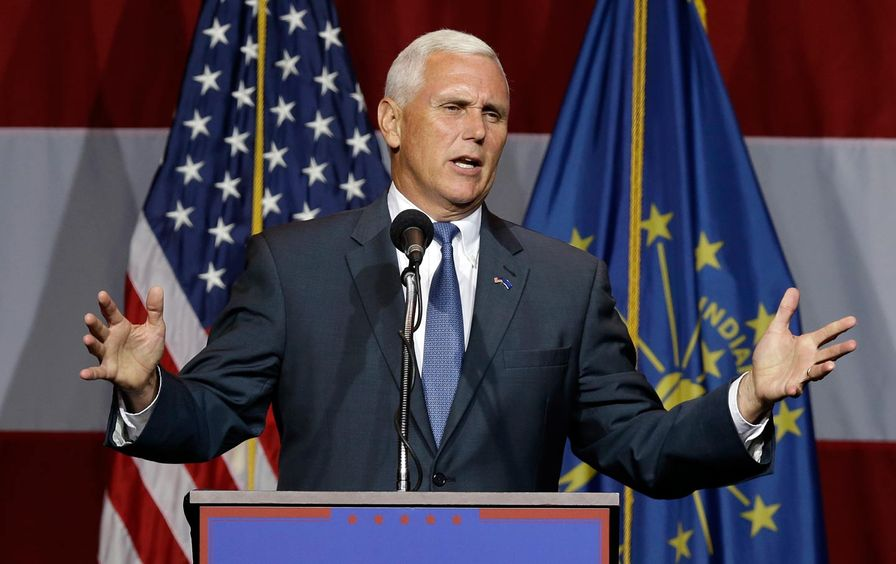 Mike Pence introduces Trump