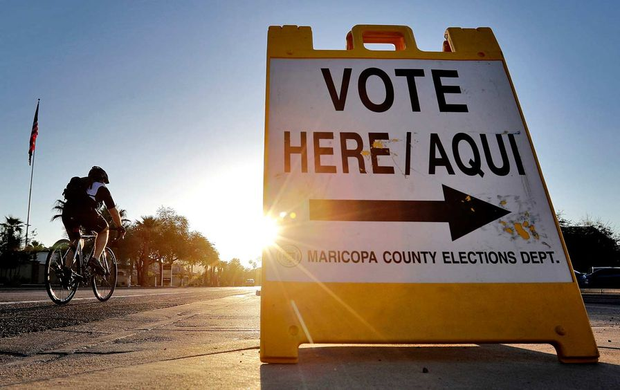 Maricopa County elections sign