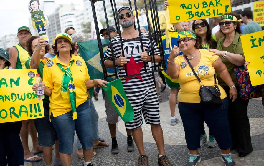 Rio Copacabana Protest