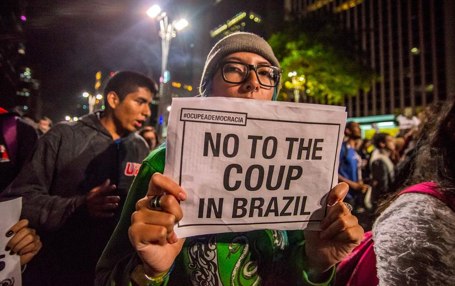 Brazil coup protest