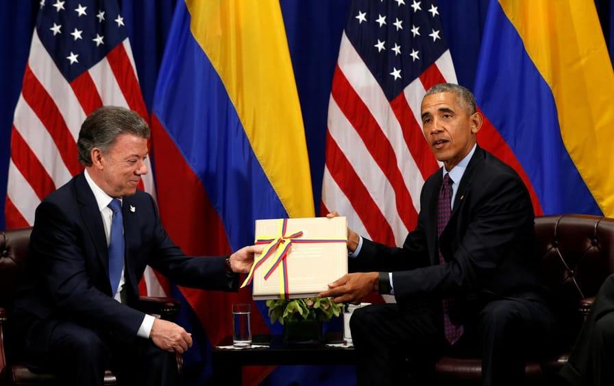 Obama and Santos