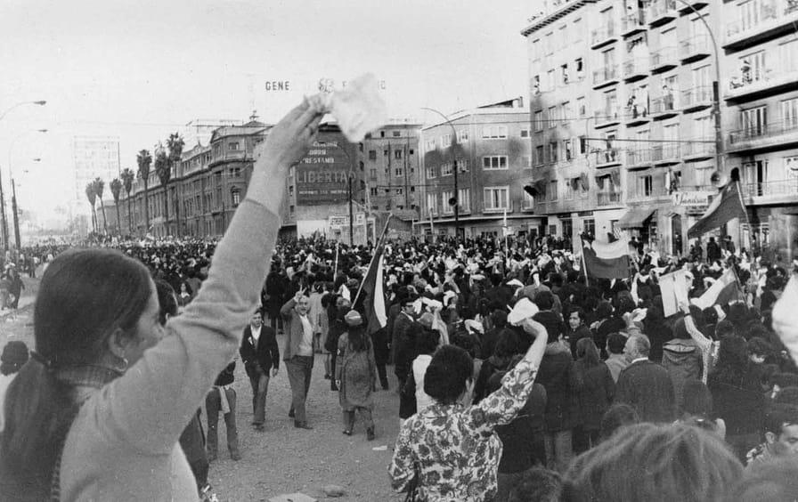 Anti-Marxist protest in Chile 1973