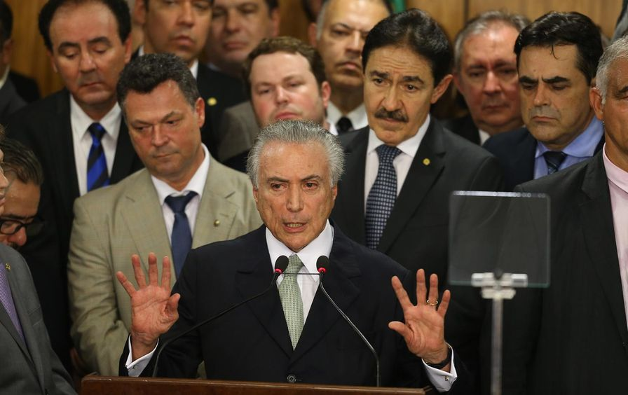 Michel Temer and his cabinet