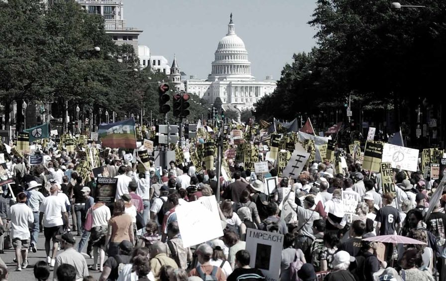 Antiwar protest at the Capitol