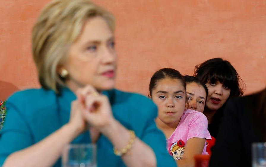 Clinton in California