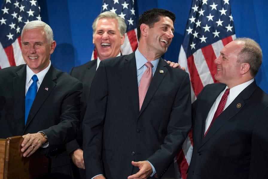 Republicans laugh