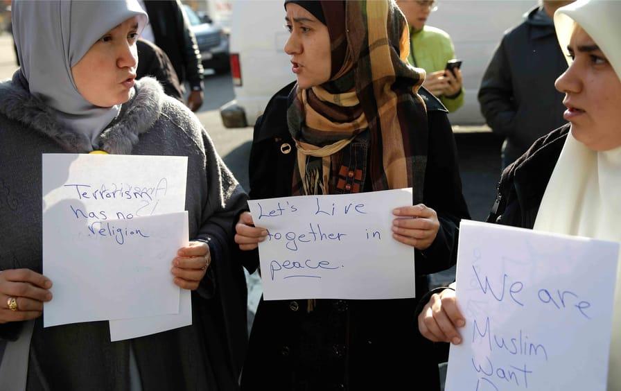 Muslim hate crime protest, Queens