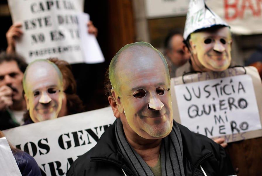 Rodrigo Rato Protests