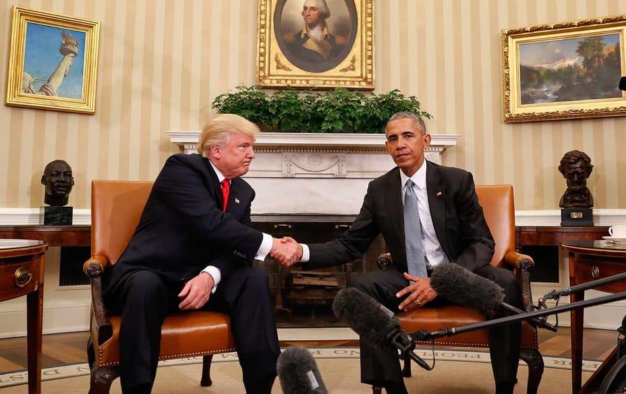 Trump and Obama meet