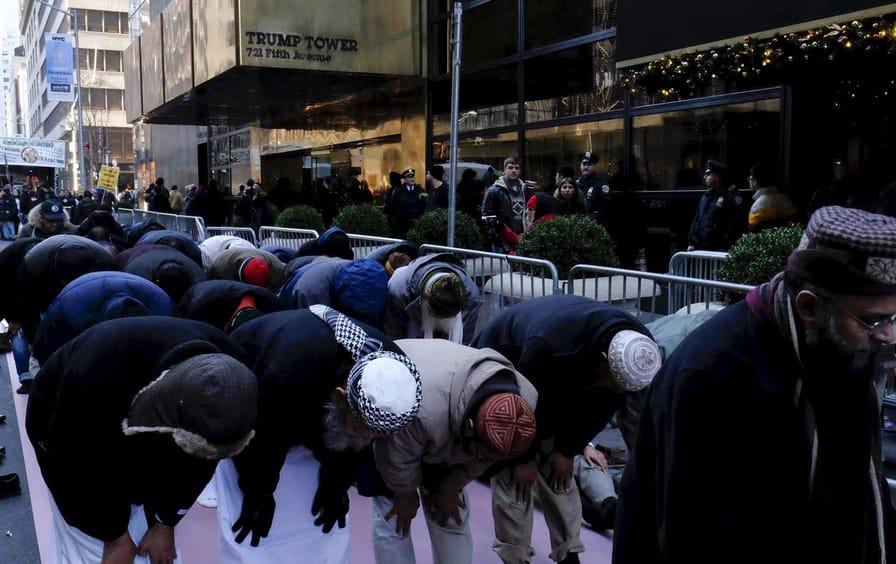 Muslim Prayer Trump Protest