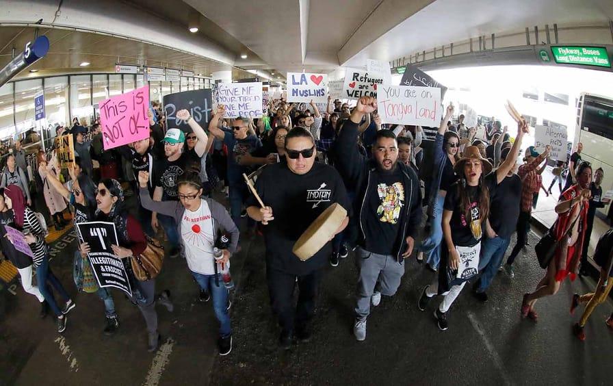 LAX Trump protesters