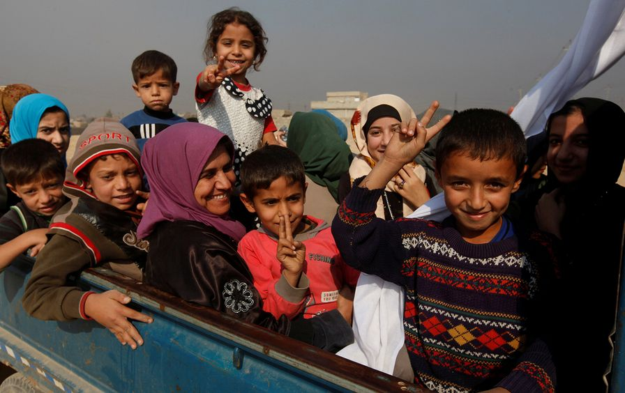Refugees fleeing clashes in Iraq