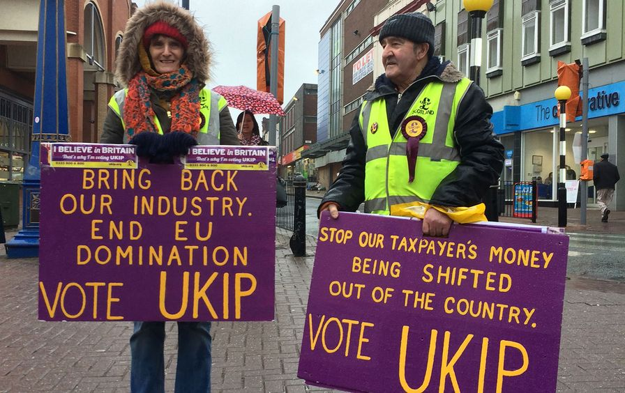 Citizens of Stoke-on-Trent campaigning for UKIP