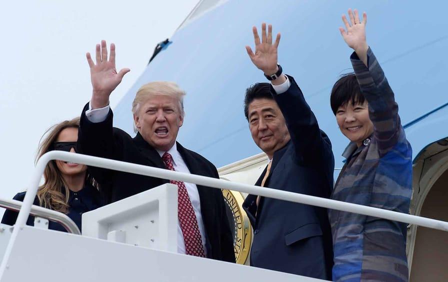 Trump and Shinzo Abe