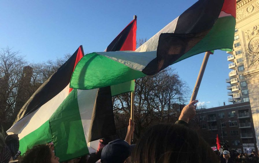 Palestinian Flags March