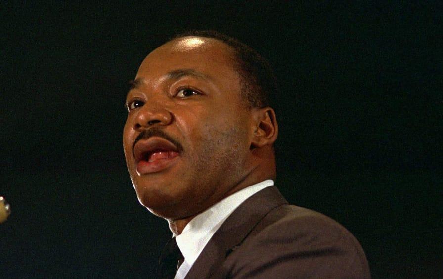 MLK at Peace Rally