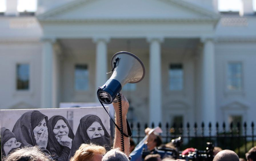Anti-war protest at White House