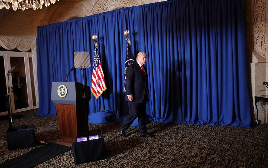 Donald Trump Syria Bombing Briefing