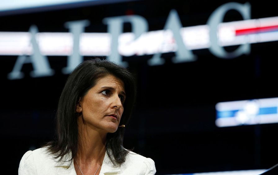 UN Ambassador Nikki Haley speaks at AIPAC