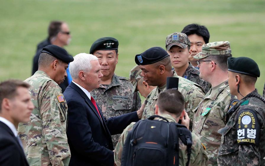 Mike Pence at the DMZ in Korea