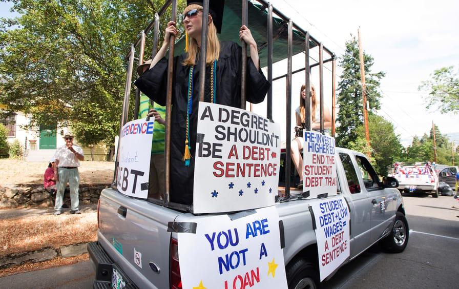 Student debt protest